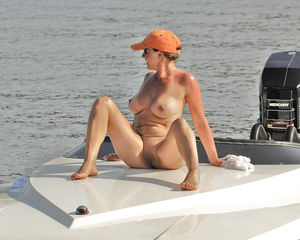 wife naked on boat