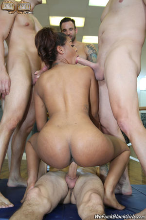 ebony cheerleader gangbang